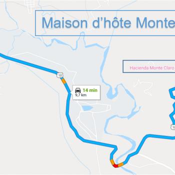 Acces Maison d'Hote Monte Claro depuis / vers Turrialba